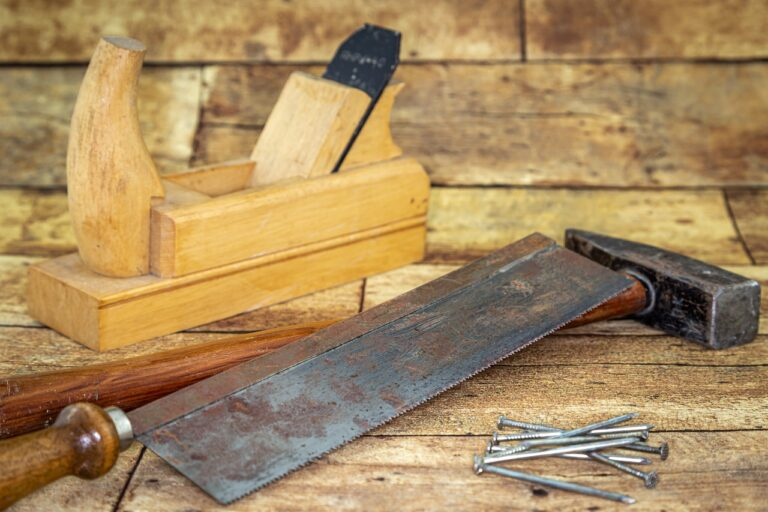 planer, hammer, saw