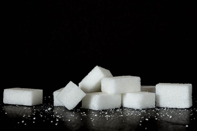 sugar, sweets, black background